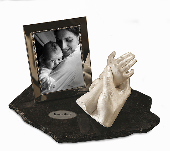 Mom & Baby on Granite